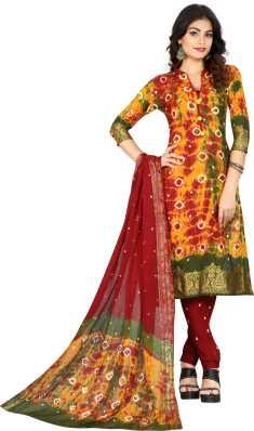 f3df6fbdab Bandhani Dress Material - Buy Bandhani Dress Material online at Best ...