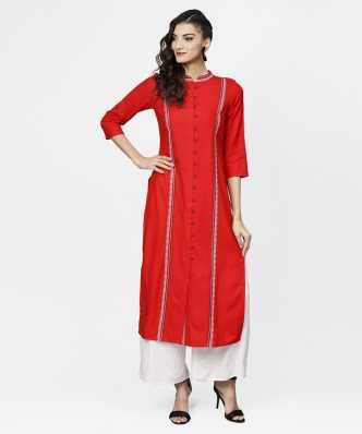 ab26ac1b7 Red Kurtis - Buy Red Kurtis   Kurtas Online at Best Prices In India ...
