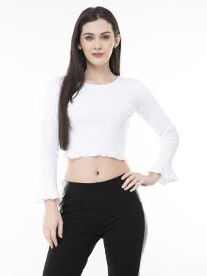 0ba409333b5 White Crop Tops - Buy White Crop Tops online at Best Prices in India |  Flipkart.com