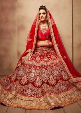 03d6fa3a8a Red Lehenga Cholis - Buy Red Lehenga Cholis Online at Best Prices In ...