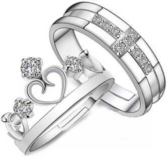 edb3c3640a Love Couple Rings - Buy Fancy Love Rings Designs online at Best ...