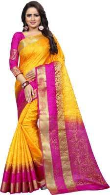 afb4947340 Kanjivaram Silk Sarees - Buy Kanjivaram Silk Sarees online at Best ...