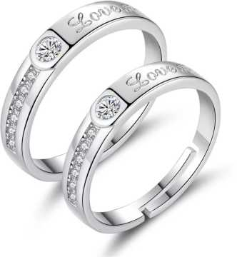 8a5f8d43ceca9 Love Couple Rings - Buy Fancy Love Rings Designs online at Best ...