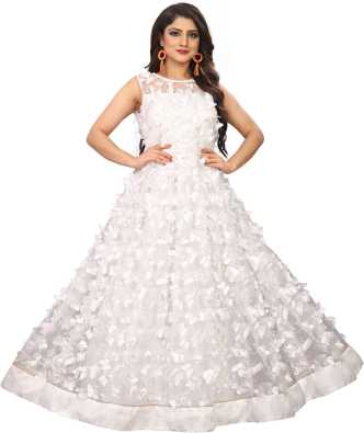 669a81b08d6c1 White Gowns - Buy White Gowns Online at Best Prices In India ...