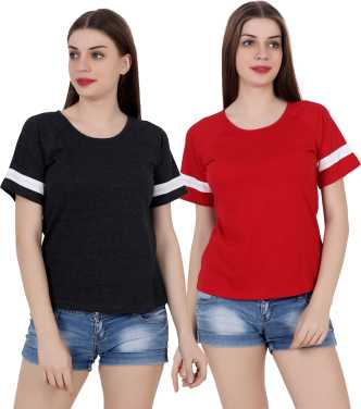c0494d47e9152 Women T-Shirts - Buy Polos   T-Shirts for Women Online at Best ...
