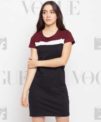 b9d5194b7aa Tshirt Dress Dresses - Buy Tshirt Dress Dresses Online at Best Prices In  India
