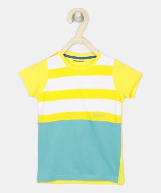 Kids Size 1 ~ 8 Top yellow T-Shirt BAG PACK print Girls