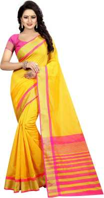 39e96843b6d42 Yellow Sarees - Buy Yellow Sarees Online at Best Prices In India ...