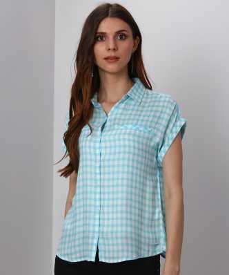 1953e026a82 Women Checkered Shirts - Buy Women Checkered Shirts online at Best ...