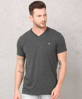 eddceccf578 v-neck t-shirts for men s online at flipkart.com