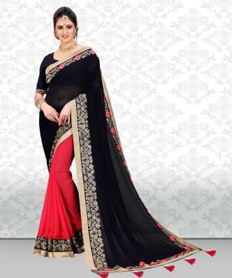 82c9b0ac9a1 Red And Black Sarees - Buy Red And Black Sarees online at Best ...