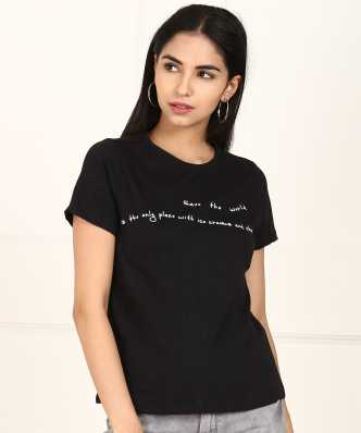 8985723d1 Women T-Shirts - Buy Polos & T-Shirts for Women Online at Best ...