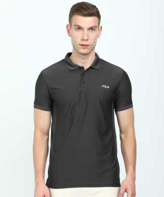 1bebad6aed Solid Men Round Neck Dark Blue T-Shirt · ₹398. ₹699. 43% off. Fila