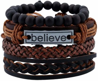 Fashion Mens Wrap Bracelets Stylish Snake Design Mens Leather Bracelet Wide Bracelets Cuff Bangle Wristband For Kids Boys Girls Teenagers Women Black White Brown Punk Rock Gothic Cuff Wristband