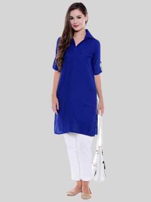 7f8ab2dd7c Shirt Style Kurtas Kurtis - Buy Shirt Style Kurtas Kurtis Online at ...