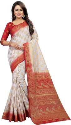 892cd19ab1a937 White Saree - Buy White Sarees Online at Best Prices In India ...