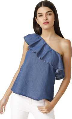 7e2fdce6858a One Shoulder Tops - Buy One Shoulder Tops online at Best Prices in India