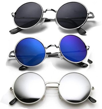 Silver Mirror Arc Top Rounded Lens Frame Sun Shades Glasses Genuine BARBIE