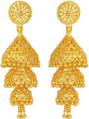 1 Gram Gold Earrings - Buy 1 Gram Gold Earrings online at