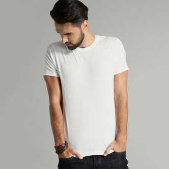 22952c40 Tap in. Solid Men Round Neck Black T-Shirt. ₹209. ₹1,195. 82% off.  MoochSingh