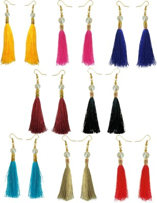 Long Dangler Earrings Handmade Tassel Fancy Party Wear Beads Jewellery