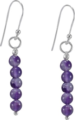 Silvestoo Jaipur Cubic Zircon Gemstone 925 Sterling Silver Dangle Earring PG-155718