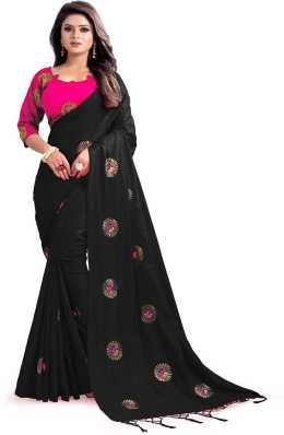 b6be90166a2 Black Sarees - Buy Black Saree Online at Best Prices In India ...