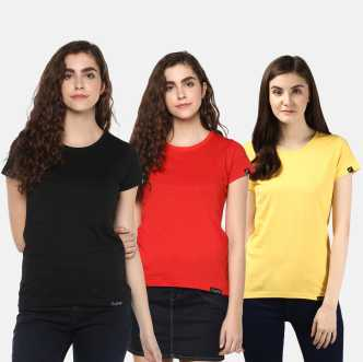 220d2cd1 Women T-Shirts - Buy Polos & T-Shirts for Women Online at Best ...