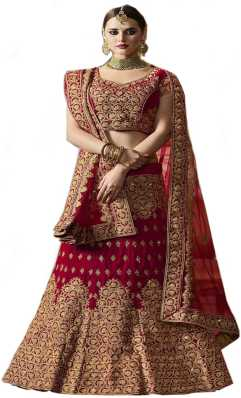 51ca8aad0c Red Lehenga Cholis - Buy Red Lehenga Cholis Online at Best Prices In ...