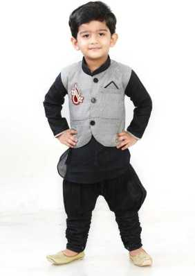 6257a72fdb6d Trending. Digimart. Boys Festive & Party Kurta, Waistcoat and Breeches Set