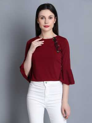 9bdb114345d51e Maroon Tops - Buy Maroon Tops Online at Best Prices In India ...