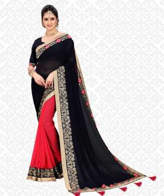 e5af18aafc Red And Black Sarees - Buy Red And Black Sarees online at Best ...