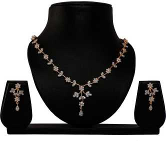 American Diamond Necklace Sets Buy American Diamond Necklace Sets Online At Best Prices In India Flipkart Com