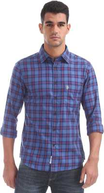 32b74502 Blue Shirts - Buy Blue Shirts Online at Best Prices In India ...