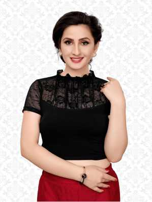 5909694bdaca57 High Neck Blouse - Buy High Neck Blouse online at Best Prices in India |  Flipkart.com
