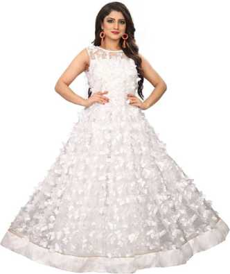ffa2fb35a White Gowns - Buy White Gowns Online at Best Prices In India ...