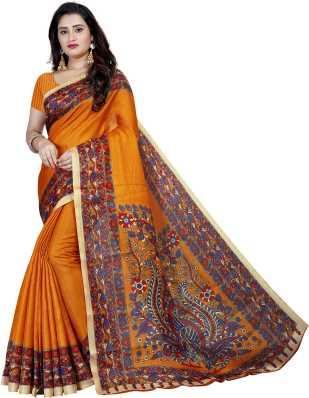 22b586cb17 Kalamkari Sarees - Buy Kalamkari Cotton/Silk/Crepe Sarees online at best  prices - Flipkart.com
