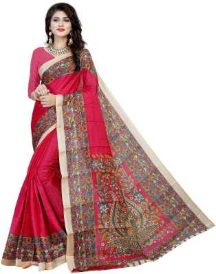 4d7f348d1da011 Kalamkari Sarees - Buy Kalamkari Cotton/Silk/Crepe Sarees online at ...