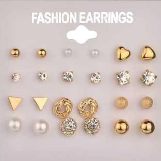 923980435 Gold Earrings-Best Fancy Latest Gold Earring Designs/Gold Ear Tops ...