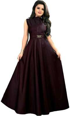 816fea082 Party Wear Gowns - Buy Latest Party Wear Long Ball Gowns online at best  prices - Flipkart.com