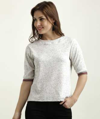 hot sale online d894d dd025 White Tops - Buy White Tops For Women Online at Best Prices ...