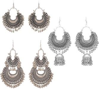 Trending Handmade Indian Jewelry Red Plan Beads Brass Metal 29 Grams Jhumka//Earring 3