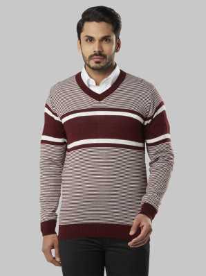 374dbe33015c09 Raymond. Self Design V-neck Casual Men Brown Sweater. ₹1,487. ₹3,099. 52%  off · 2