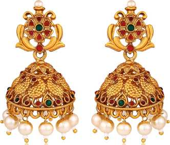 Gold Jhumka - Gold Jhumka Designs online at Best Prices in