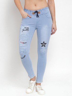 leggings; fashionable design; jean capri style; black and dark navy.