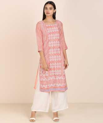 Kurta Women Magenta Pink /& Gold-Toned Paisley Printed A-Line Kurta - Indian Tunic Kurtis For Women Kurta Women Indian Dress
