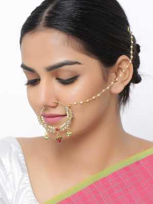Sanjog Nose Rings Studs Buy Sanjog Nose Rings Studs Online At