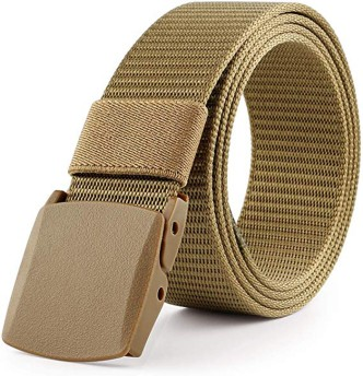 ompson Mens Belt No metal Plastic buckle canvas outdoor belts casual jeans belt