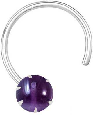 Amethyst Nose Rings Studs Buy Amethyst Nose Rings Studs Online