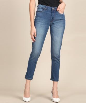 James Jeans Womens Mid Rise Pencil Leg Jeans in Black Clean